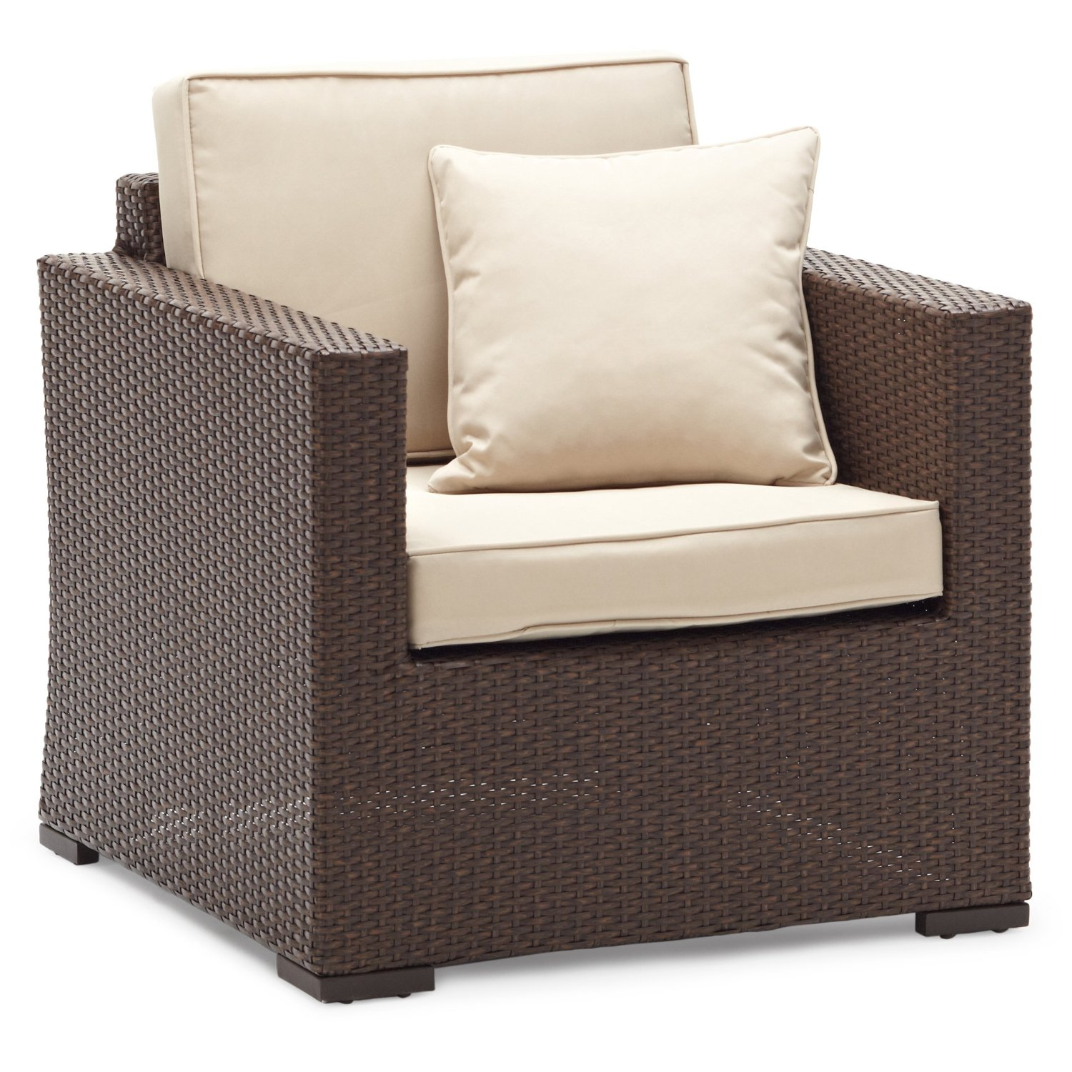 Strathwood Griffen All Weather Wicker Chair Dark Brown