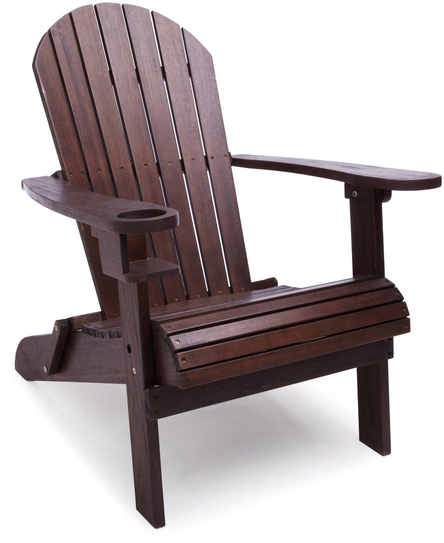 Strathwood Basics - Sedia in legno stile Adirondack, colore: Marrone ...