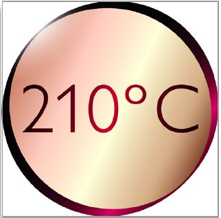 210°C professional temperature