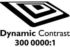 Dynamic contrast 3000000:1