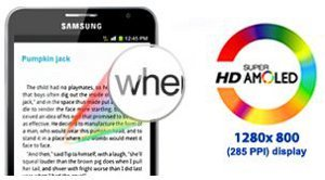 The 1st HD Super Amoled