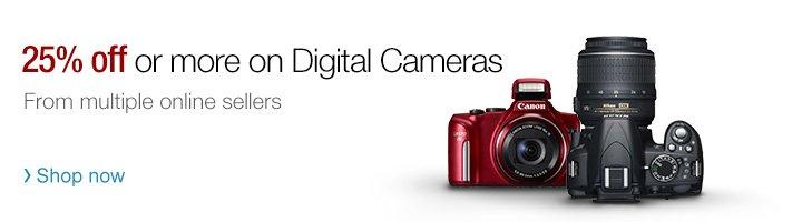 25% off or more on Digital Cameras