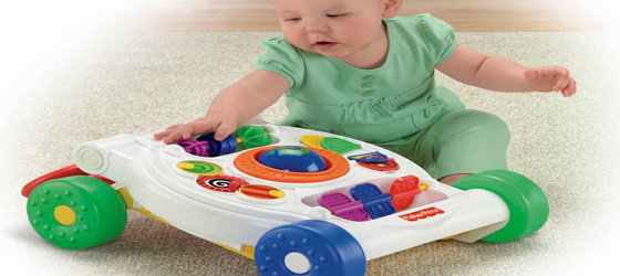 Folds flat for younger babies to explore on the floor
