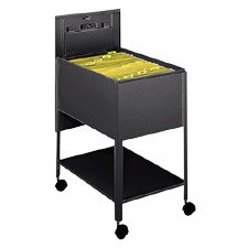 LLR60177 Mobile Standard File, w/Lock, 13-1/2x24-3/4x28-1/4, Black