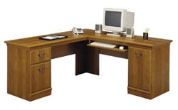 Bush L-Desk - a classic workstation - WC01711 - (Medium Superb Oak) 
