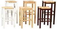 LINON NATURAL 30 INCH BEECH BACKLESS STOOL SET OF 2 - 425XNAT-02-AS