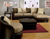 Mocha 3 Pc. Sectional Living Room