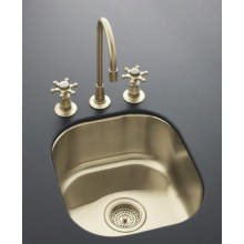 "Undertone Undercounter Entertainment Sink in Satin Bronze Finish, 13-3/4"" x 15-3/8"" - K-14300"