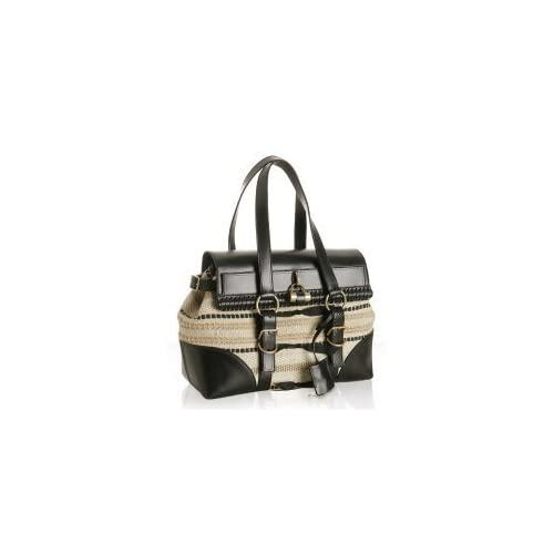 yves saint laurent buckle-accented leather bag
