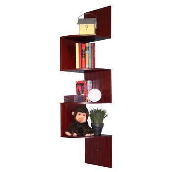 Corner Spacesaver Bookcase - Cherry