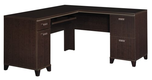 Bush Furniture Tuxedo Collection L-Desk, Mocha Cherry