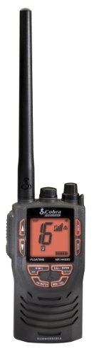 Cobra MR HH330 FLT 6 Watt Floating Marine Waterproof VHF Radio with Noise Cancelling Microphone