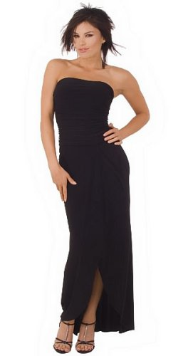 A Long Black Elegant and Sexy Gown for Party with Wonderful and Popular Design