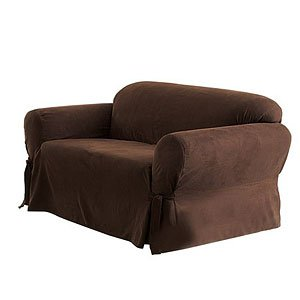 Sure Fit Simply Suede Slipcover, Chair, Dark Brown