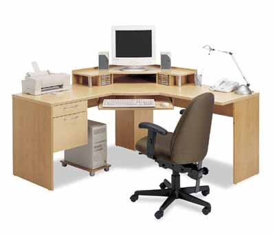 Laptop Accessories Site Amazon  on Corner Work Station In Maple And Honey   Furniture And Home Decor