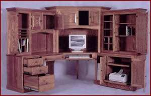 6-PC Deluxe Corner Computer Center-Maple (Natural Finish)