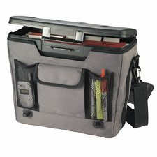 Mobile File Manager, 3-Pocket Front, Holds Hanging Files, 17 inch x7inch x12inch , Gray ELD25633