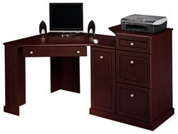 Bush Furniture Birmingham Collection Corner Desk, Harvest Cherry