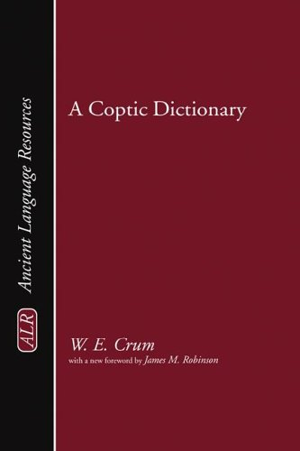 A Coptic Dictionary (Ancient Language Resources)