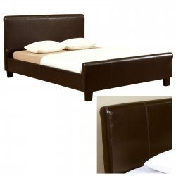Queen Size Island Bed - Brown