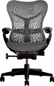 Mirra Chair - Basic Graphite on Graphite by Herman Miller