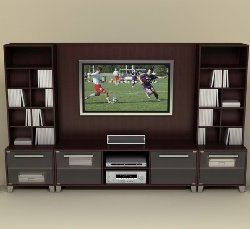 Entertainment Center Set in Espresso - Brooklyn Collection