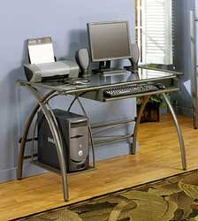 Javelin Computer Desk - 60590 - (Pewter)
