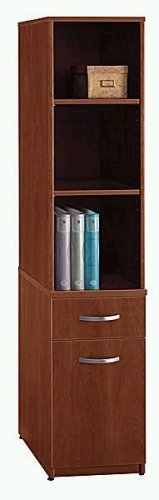 Bush Furniture Universal Wall System Storage Tower, Hansen Cherry