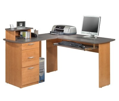 Capri L Shape Workstation With Pedestal
