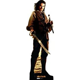 Will Turner - Carboard Cutout - Orlando Bloom - Pirates of the Carribean - Lifesize Standee