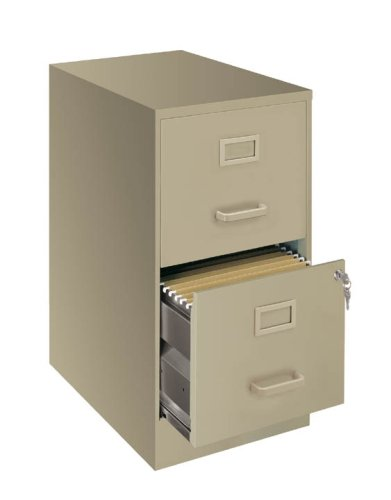 22 inch Deep 2 Drawer Letter File Cabinet - (Black)