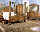 Home Office Furniture Bellagio 6 Pc King Canopy Bedroom