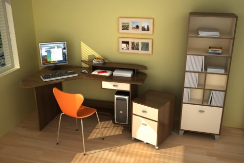 3pc Home Office Furniture Set - Topolino Collection - Azura - 400010