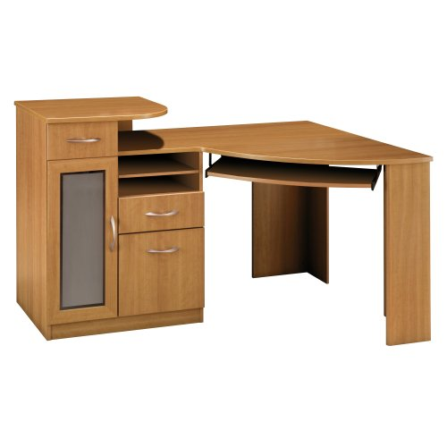 Bush Furniture Vantage Corner Desk, Light Dragonwood