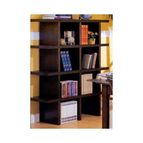 Wood Grain Finish Stackable Bookcase Full Unit (4 Shelves)