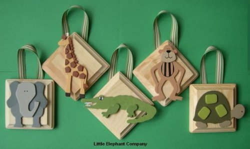 Safari Wall Plaques - Set of 5 - Customize