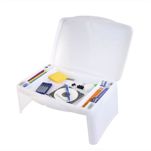 SmartLap Lap Desk with Folding Legs and Carry Case - Frosted White