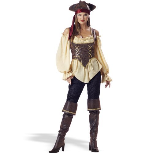 Sexy Woman in Rustic Pirate Lady - Elite Adult Collection Costume