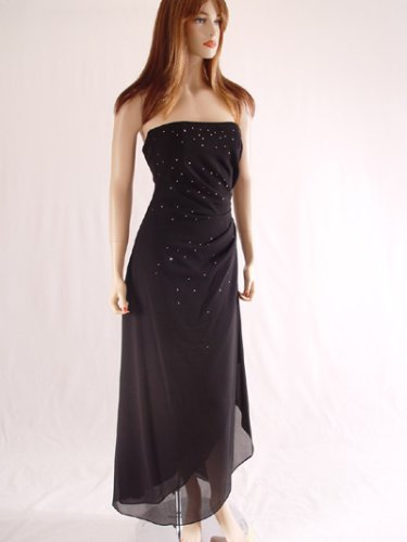 Black Strapless Prom Dress 4