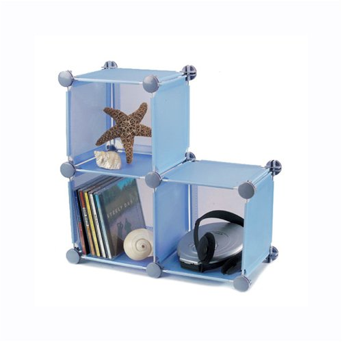 Small Storage Cubes - Set of 3 - Blue by Industrial Wire Products