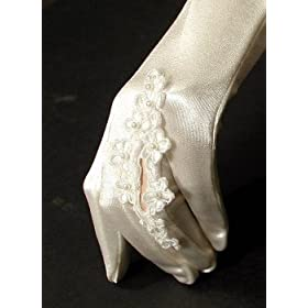 Lovely Satin Wedding Gloves