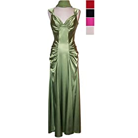 Bridesmaid Dress - Satin Glam Formal Gown Prom