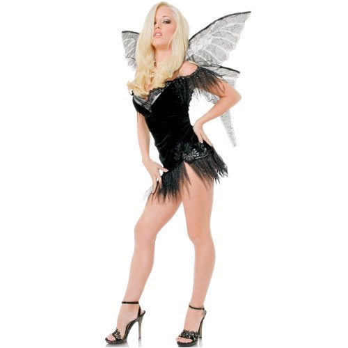 Sexy girl in Playboy Wicked Fairy Adult Costume
