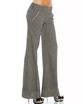 Tweed Wide Leg Trouser