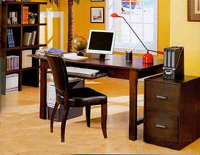 Furniture   Home Office on Wood Grain Finish Home Office Set   Furniture And Home Decor