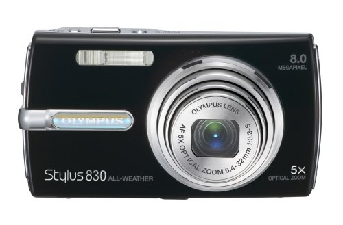 Olympus Stylus 830 8MP Digital Camera with Dual Image Stabilized 5x Optical Zoom (Black)