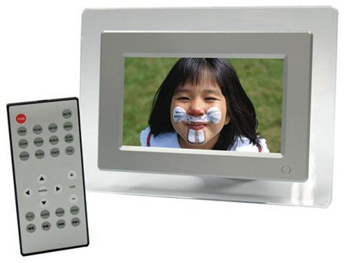 ATMT 7-Inch Miniview Advanced Digital Photo Frame with MP3/MP4 and Remote Control (Silver)