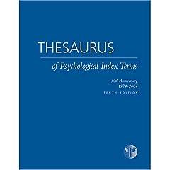 【クリックでお店のこの商品のページへ】Thesaurus of Psychological Index Terms: 30th Anniversary 1974-2004 [ハードカバー]