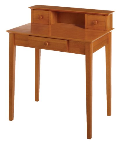 Winsome Wood Writing Desk, Honey