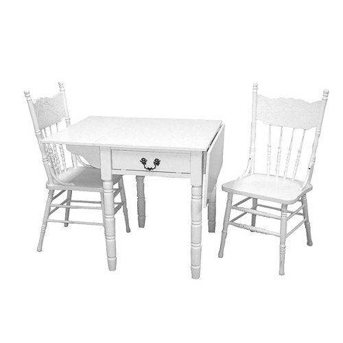DISTRESSED WHITE DINING CHAIRS